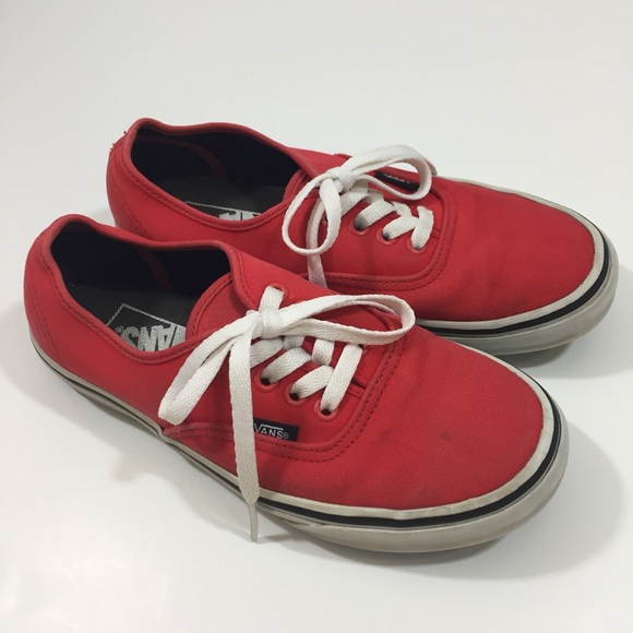 d6785272a62161 Vans Shoes - Van s Red Low Top Sneakers women s 7 Shoes